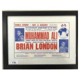 1966 Muhammad Ali vs Brian London Broadside