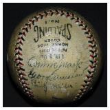 1932 Philadelphia Athletics Team Ball Signed.