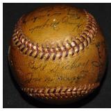 1946 Yankee Team Signed Keller Home Run Ball.