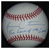 Kevin Costner Single Signed Baseball