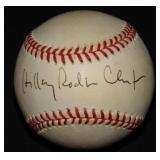 Hillary Clinton Single Signed Baseball