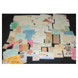 Ticket Stub and Letter Collection.