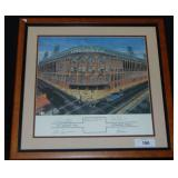 Ebbets Field Lithograph Signed.