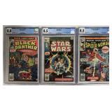Lot of Three Graded CGC Marvel Comics.