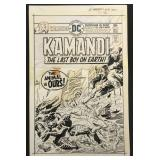 Joe Kubert. Kamandi #36 Original Cover Art.
