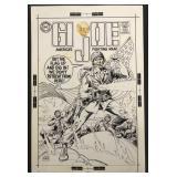 Joe Kubert. G. I. Joe Original Cover Art.