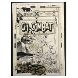 Joe Kubert. G. I. Combat #183 Cover Art.