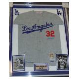 Sandy Koufax. Signed Dodgers Jersey.