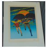 Bob Kane, Batman & Robin Signed Lithograph.