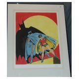 Bob Kane, Batman and Robin. Signed Lithograph.