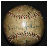1925 Washington Senators Baseball. PSA.