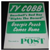 Ty Cobb Advertising Sign.