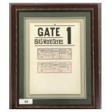 1945 Chicago Cubs WS Gate Sign & Ticket Proofs