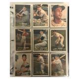 1957 Topps Baseball Card Lot.