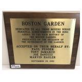Boston Garden Boxing Presentation Plaque