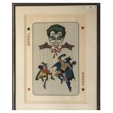 Bob Kane, The Joker. Signed Lithograph.