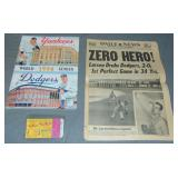 1956 Perfect Game World Series Program and Stub.