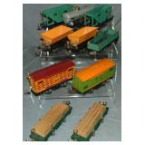9 Lionel 800 Series Freight Cars