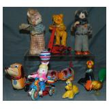 8Pc Tin Wind-up & Friction Toy Group