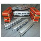 6 Clean Boxed Lionel 2434 Series Passenger Cars