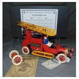 Boxed Tucher Clockwork Fire Truck