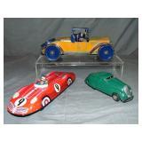3 Vintage Tin Toy Cars