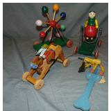 4 Early Wood Toys