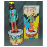 Boxed Battery Operated Strutting Sam, Japan
