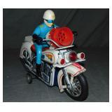 Battery Op Siren Police Motorcycle Toy, Japan