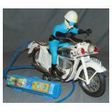 Battery Op R/C Bandai Policeman on Motorcycle Toy
