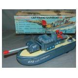 Boxed Battery Op Cragstan Cap Firing Gunboat