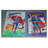 (2) 1966 Superman Coloring Books, Whitman