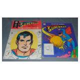 (2) Vintage Superman Coloring Books, Whitman