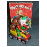 Boxed Battery Op Pierrot Monkey Cycle, TM Japan