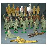 Lead & Tin Toy Soldier Lot