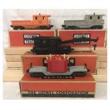 4 Clean Boxed Lionel Freight Cars