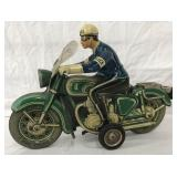 Scarce Large Tipp Police Motorcycle