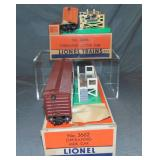 Nice Boxed Lionel 3361 & 3656 Operating Cars