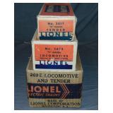 Scarce Empty Boxes For Late Lionel 262E Locomotive