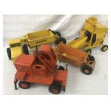4 Pressed Steel Construction Vehicles