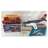 (2) Boxed Battery Ops, Fire Engine & Police Plane