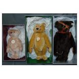 Steiff Teddy Rose 1925, Dicky 1930, & Muzzle Bear