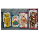 (4) Steiff Limited Edition Bears