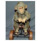Early Steiff Monkey on Cart.