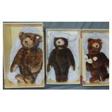 (3) Boxed Limited Edition Steiff Bears