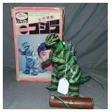 Rare, Boxed Bullmark Japanese Tin Litho Godzilla