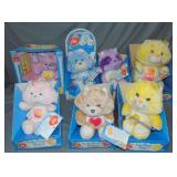 Vintage Lot of (6) Care Bears in Original Boxes