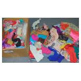 Box Lot of Vintage Doll Clothing