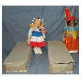 Lot of Two Cloth Faced Dolls Boxed.