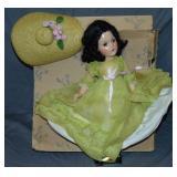 Early Madame Alexander Scarlett Doll.